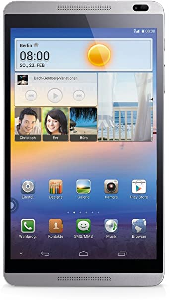 """Huawei MediaPad M1 8.0 Tablette Tactile 8 """" Android Argent-blanc"""