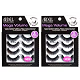 Ardell Lashes Mega Volume 252, 4 Pairs x 2 Packs (8 Pairs) (Tamaño: Mega volume 252)