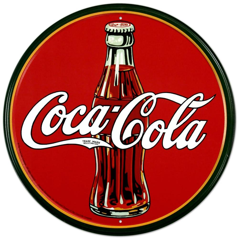 Coca-Cola Bottle Round Metal Sign 12 by 12 inch 1 count 0