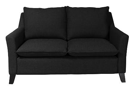 Newlevel 2-Sitzer-Sofa Cyprus,156 x 94 x 93 cm, Feinstruktur schwarz