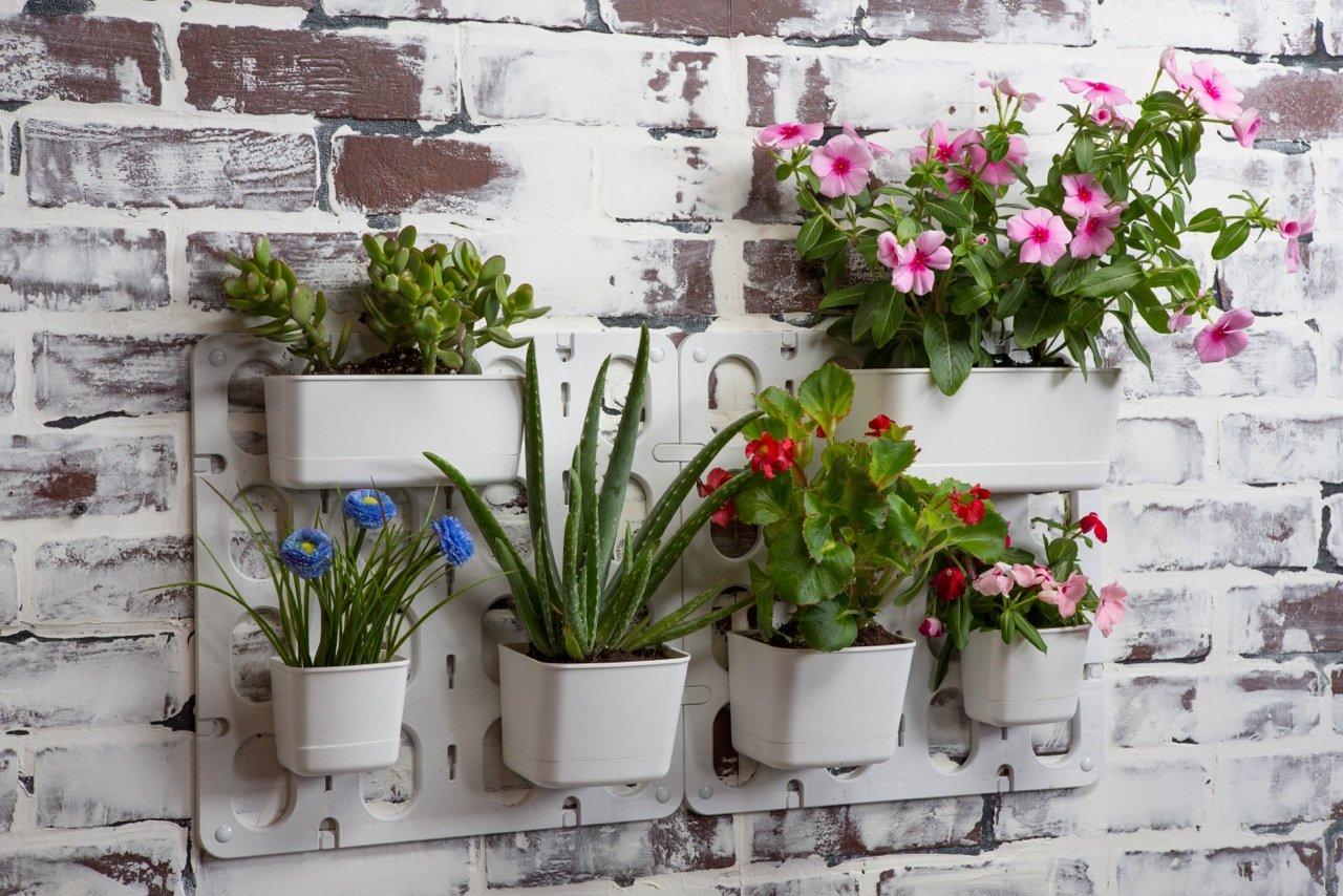 Wall garden pots vertical plant hanging flower modular for Flower wall garden