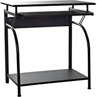 OneSpace Stanton Computer Desk with Pullout Keyboard Tray (Black)