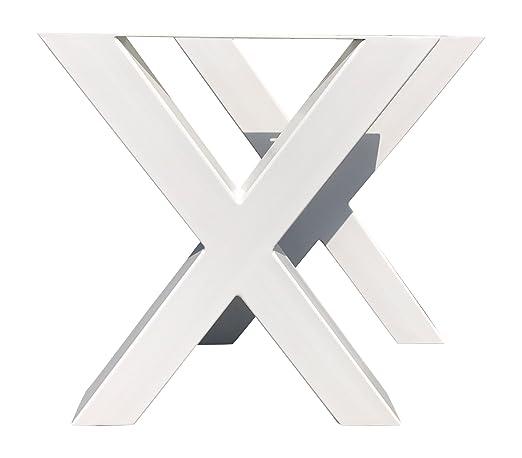 Design structure de table X Armature Croix Armature Acier Blanc Tux 304Table untergestell Piètement Structure Paire 690x 725mm
