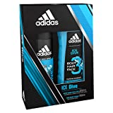 Adidas Ice Dive 2 Piece Set, Body Hair Face 3 in 1, Deo Body Spray