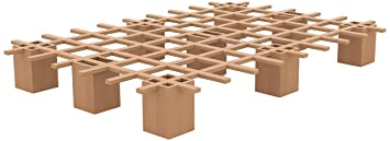 Tojo Bett | Tojo system Funktionsbett |100 x 200 cm | Ideal als Gästebett / Studentenbett / Jugendbett | Das flexible Raumwunder | Unbehandeltes Holzbett ohne Schrauben / Beschläge