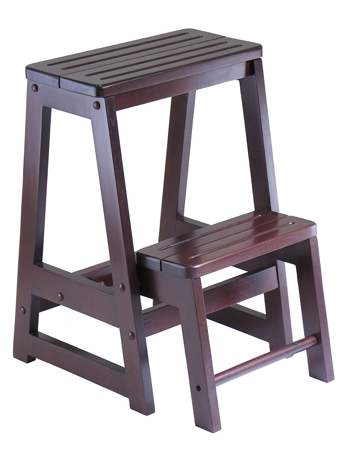 winsome wood step stool antique walnut new free