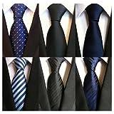 Weishang Pack of 6 Men's Classic Tie Silk Necktie Woven Jacquard Neck Ties (Set 1)