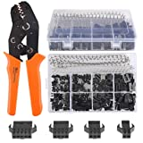 QLOUNI 560Pcs 2.54mm Pitch 2 3 4 5 Pin with SN-2 Crimping Tools Dupont JST SM 2 3 4 5 Pin Male/Female Plug Housing Male/Female Pin Header Crimp Terminals Connector Kit (Color: JST SM Pins & SN-2 Crimping Tools)
