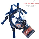 Organic Vapor Full Face Respirator ASTM Safety Mask N95 Activated Charcoal Air filter Eye Protection For Construction Painting Cleaning Formaldehyde polish (9000 safety Respirator+Canister1) (Tamaño: Full Size)