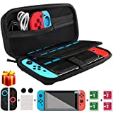 Nintendo Switch Case, kungfuren [UPGRADED 2018]Switch Case with 29 Game Cartridges, Premium Protective Hard Shell Travel Carrying Case Pouch for Nintendo Switch Console & Accessories BLACK (Color: Black)