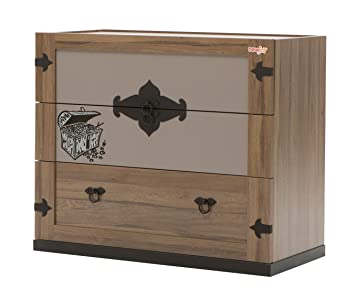 New Joy Captain Children Chest of Drawers, 193 x 106 x 246 cm, Walnut