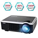 Projector, WiMiUS 3500 Lumens Video Projector Support 200