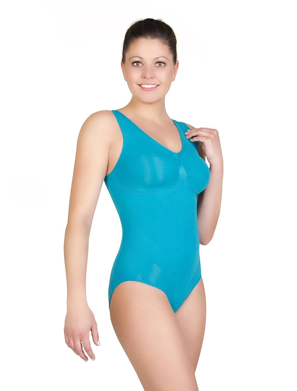 belly cloud Damen Body figurformender seamless Body mit V-Ausschnitt günstig online kaufen