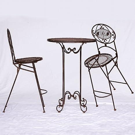 Barset Gartenmöbel Bartisch Barset 1 Tisch & 2 Stuhle braun antik Innen & Außen