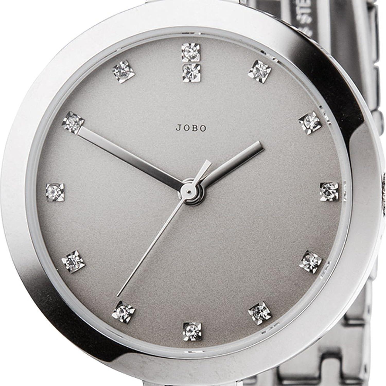Damen-Armbanduhr Quarz Analog Edelstahl mit Kristall-Elements Mineralglas online bestellen