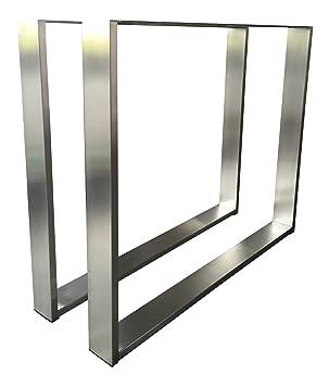 Tavolo di design con struttura in acciaio inossidabile Tug 403base tavolo kufe 1pezzi pattini struttura in 3tenendo. Dimensioni Nuovo e sigillato