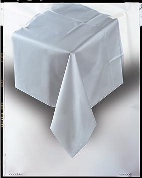 Nappe plastique rectangulaire 135cm x x 270cm argent - Nappe cuisine plastique ...