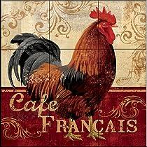 Cafe Francais by Conrad Knutsen - Kitchen Backsplash / Bathroom wall Tile Mural