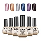 MelodySusie Rebel Heart 3 Step Nail Gel Kit with 6 Colors; Long Lasting; Soak Off; for UV&LED Gel Polish