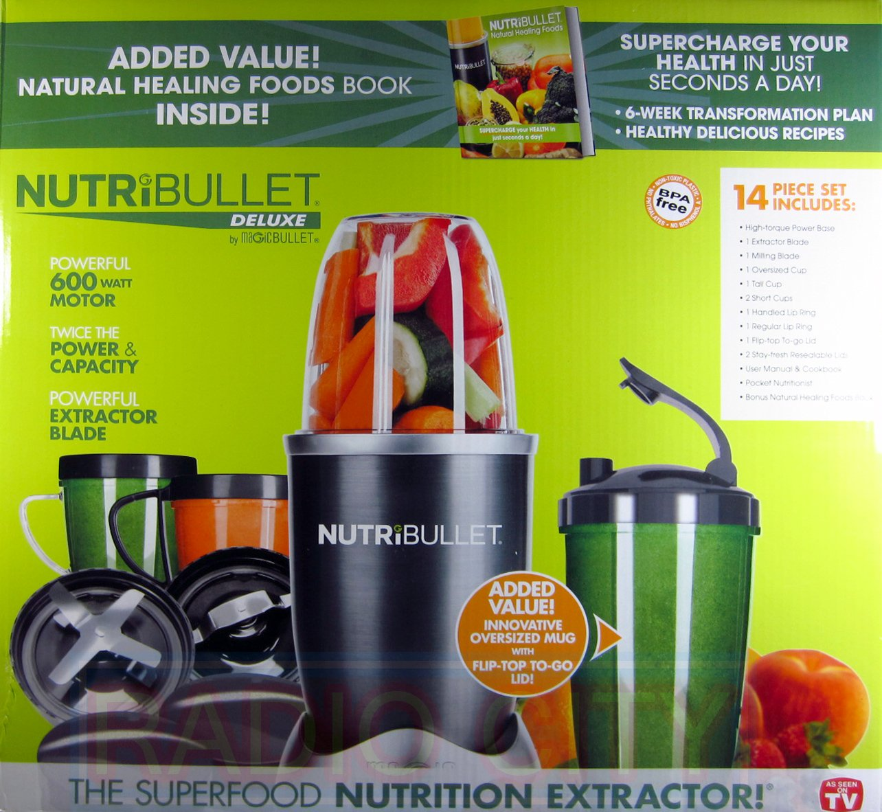 Nutribullet 14-Piece Nutrition Extractor 600 Watt Blender Juicer NBR-1401 Nutri Bullet