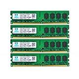 Motoeagle 8GB (2X 4GB) DDR2 800MHz PC2-6400 UDIMM CL5 200-Pin 1.8v Unbuffered Non-ECC DDR2-800 Desktop Memory Ram Module(2GBx4, 6400U Large) (Color: 6400U large, Tamaño: 2GBx4)
