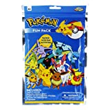 Pokemon Activity and Fun Pack with 24 Page Coloring Book, 1 Velvet Poster, Small Stencils and 17 Holographic Stickers