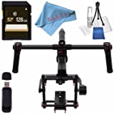DJI Ronin-MX 3-Axis Gimbal Stabilizer CP.ZM.000377 + 128GB SDXC Card + Card Reader + Fibercloth Bundle (Color: Standard)