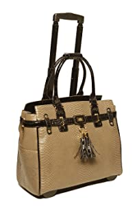 JKM & COMPANY Laptop Briefcase Carryall Rolling Bag