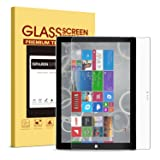 Surface Pro 3 Screen Protector [Tempered Glass],SPARIN [Explosion-Proof] [Repeatable Installation] Glass Screen Protector for Microsoft Surface Pro 3 12 Inch, Not for Microsoft Surface 3 10.8 Inch (Color: Clear)