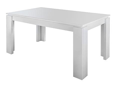 Maisonnerie 1100-162-01 Table de Salle à Manger Extensible Blanc LxLxH 160-200 x 90 x 77 cm