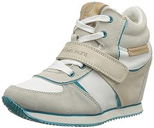 Calvin Klein Jeans Viridiana Suede Nylon Vacchetta Patent, Chaussures de ville femme   Commentaires en ligne plus informations