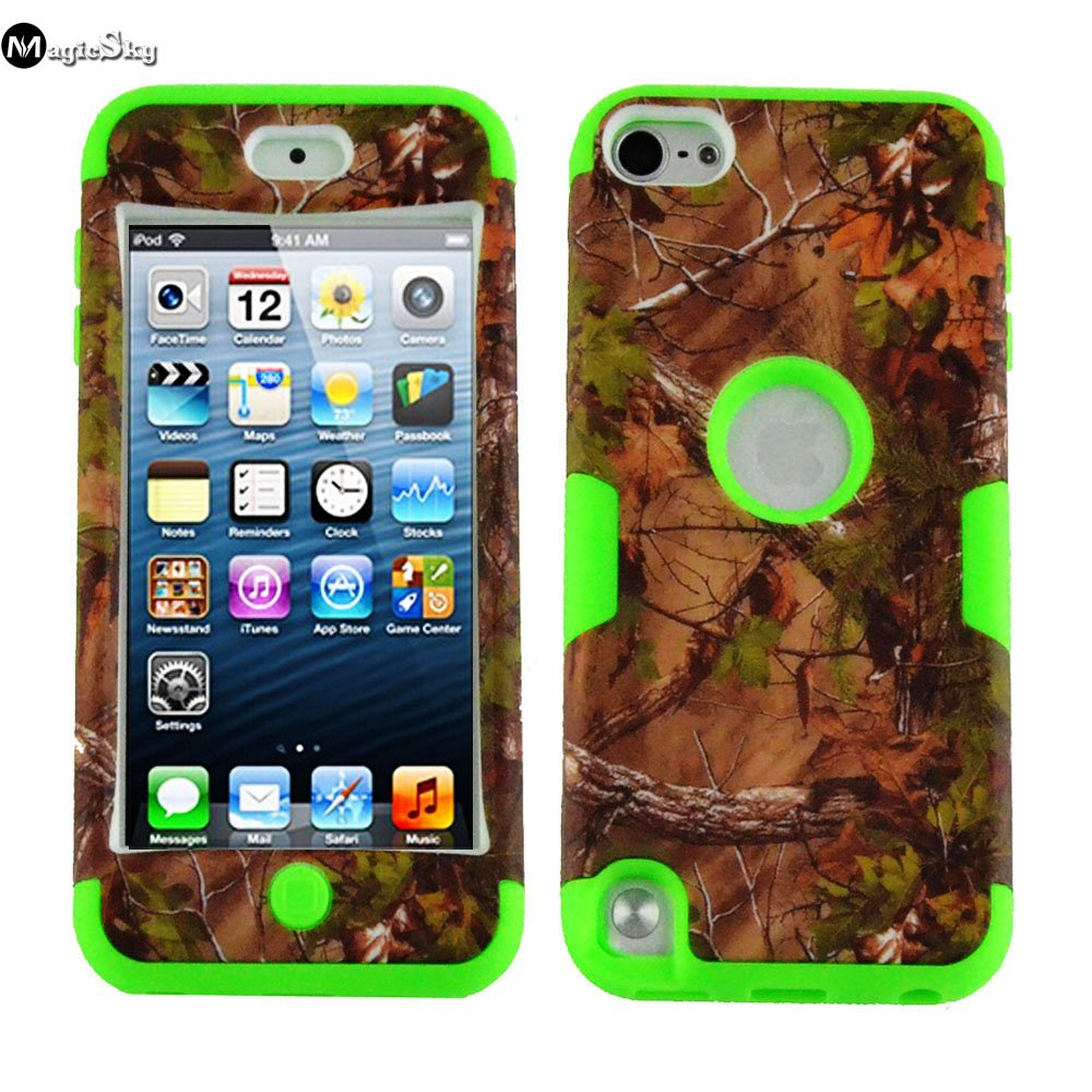 MagicSky Plastic Silicone Hybrid Camo Pattern Case for Apple iPod Touch 5 5th Generation - 1 Pack - Retail Packaging bastexwireless bastex tpu case for apple ipod touch 5 5th generation