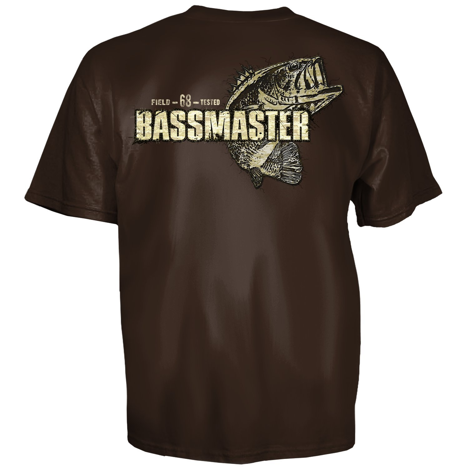 Bassmaster bass fishing patch master brown short sleeve for Bass fishing shirt