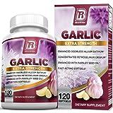 BRI Nutrition Odorless Garlic - 120 Softgels - 1000mg Pure And Potent Garlic Allium Sativum Supplement (Maximum Strength) - 60 Day Supply (Color: 120 Count, Tamaño: 120 Count)