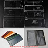 WUTA Leather Craft Template Acrylic Pattern Long Wallet Cutting Model for Beginner DIY Handmade Simple Clutch Long Purse WT845 (Tamaño: WT845)