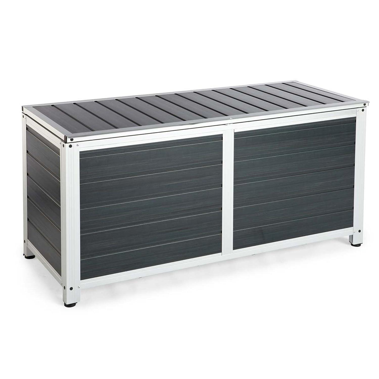 Kissenbox aus Aluminium, ca. B122,5 x T50 x H58 cm