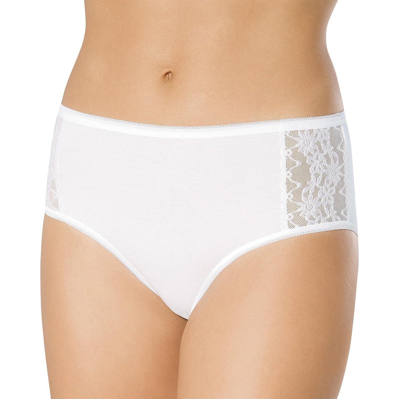 SPEIDEL Damen Slip mit Spitze 5er Pack – Basic 9385 Baumwolle+Elasthan, Farbe Weiss, Gr. 40-50 online bestellen