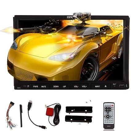 StšŠršŠo Android Eincar Sistema Android Jefe Unidad KitKat coches Lecteur DVD de 7 pulgadas de double CD DIN en el tablero de la pantalla capacitiva de radio HD automatique Multi Touch GPS Radio Navigation EstšŠre