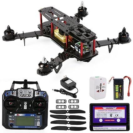 XCSOURCE Hélicoptère Quadcopter en Fibre de Carbone Cadre OCDAY QAV250 FPV + CC3D Contrôleur de Vol + Batterie RTF RC180