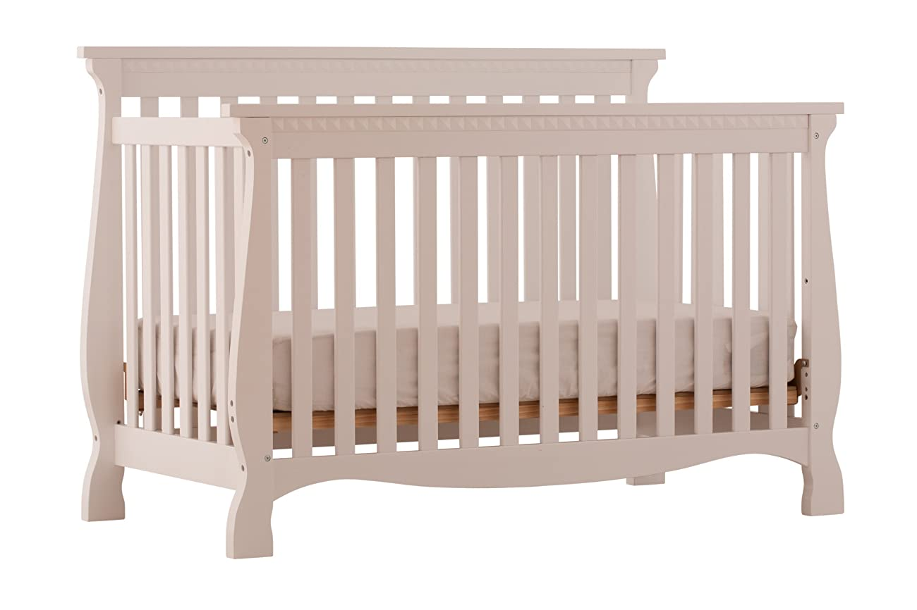 Stork Craft Venetian 4-in-1 Fixed Side Convertible Crib, White 1