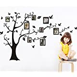 TraveT Memory Family Tree Photo Picture Frame Wall Decals Wall Stickers Decorations
