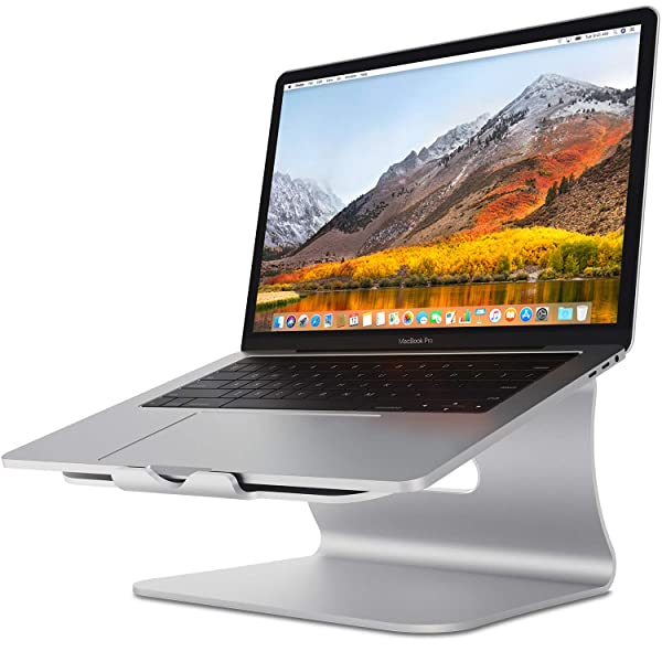 Laptop Stand - Bestand Aluminum Cooling MacBook Stand: [Update Version] Stand, Holder for Apple MacBook Air, MacBook Pro, All Notebooks, Sliver (Patented) (Color: 102s Silver)