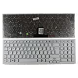 Keyboards4Laptops UK Layout Replacement Laptop Keyboard White Frame White For Sony Vaio VPC-EB17FJL, Sony Vaio VPC-EB17FJP, Sony Vaio VPC-EB17FJW, Sony Vaio VPC-EB17FL, Sony Vaio VPC-EB17FLWI