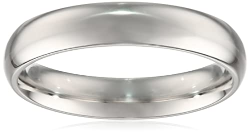Platinum Comfort-Fit Plain Wedding Band (4 mm)