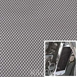 magazi cache grille radiateur noir universel 20x33cm aluminum diamond mesh grill. Black Bedroom Furniture Sets. Home Design Ideas