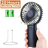 Tutuko Portable Handheld Fan - Mini Personal Fan, USB Rechargeable 4000mAh Battery Operated Fan, 7-20 Hours Working Time & 3 Speed Level, Quiet Face F