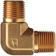 Parker Brass Pipe Fitting, 90 Degree Elbow, NPT Male X NPT Male