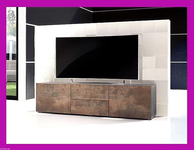 Mobile porta Tv modello Pepsy colore Corten ferro ruggine