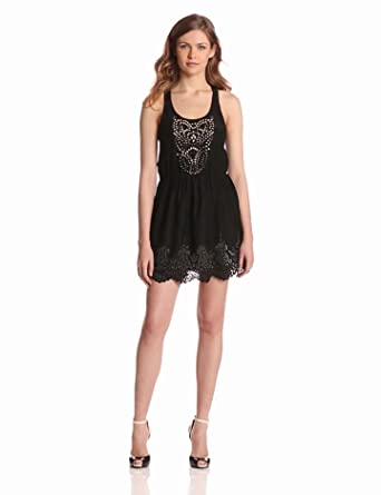 Parker Women's Laser Cut Dress, Black, X-Small