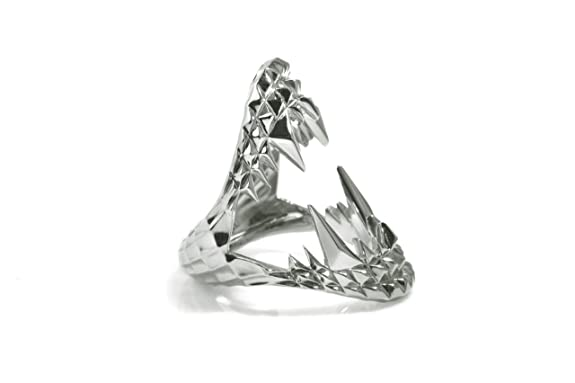 Kasun London Sterling Silver Vampire Bite Ring